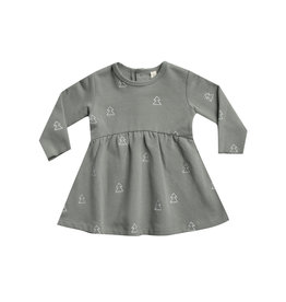 Quincy Mae Fleece Dress - eucalyptus