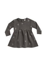 Quincy Mae Fleece Dress - coal