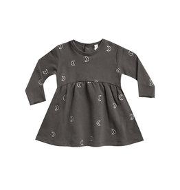 Quincy Mae Fleece Dress - coal