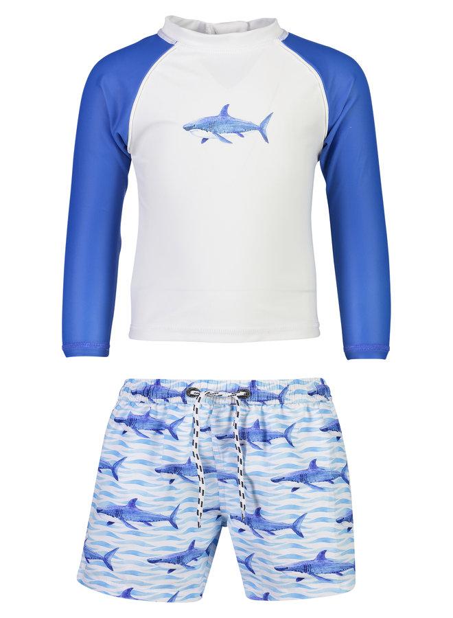 SCHOOL OF SHARKS BABY LS SET