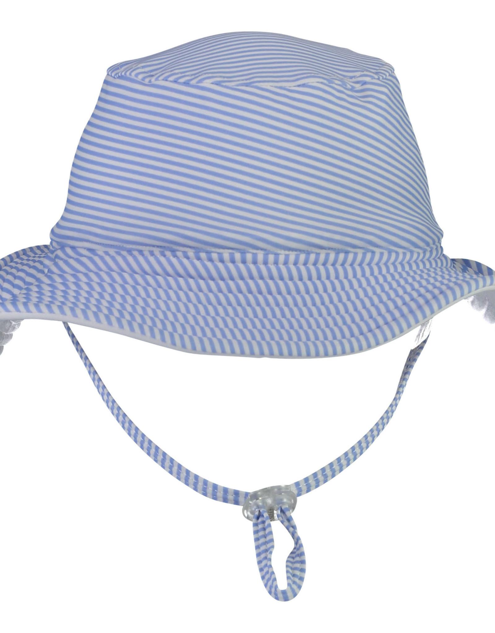 BLUE & WHITE STRIPE REVERSIBLE BUCKET HAT
