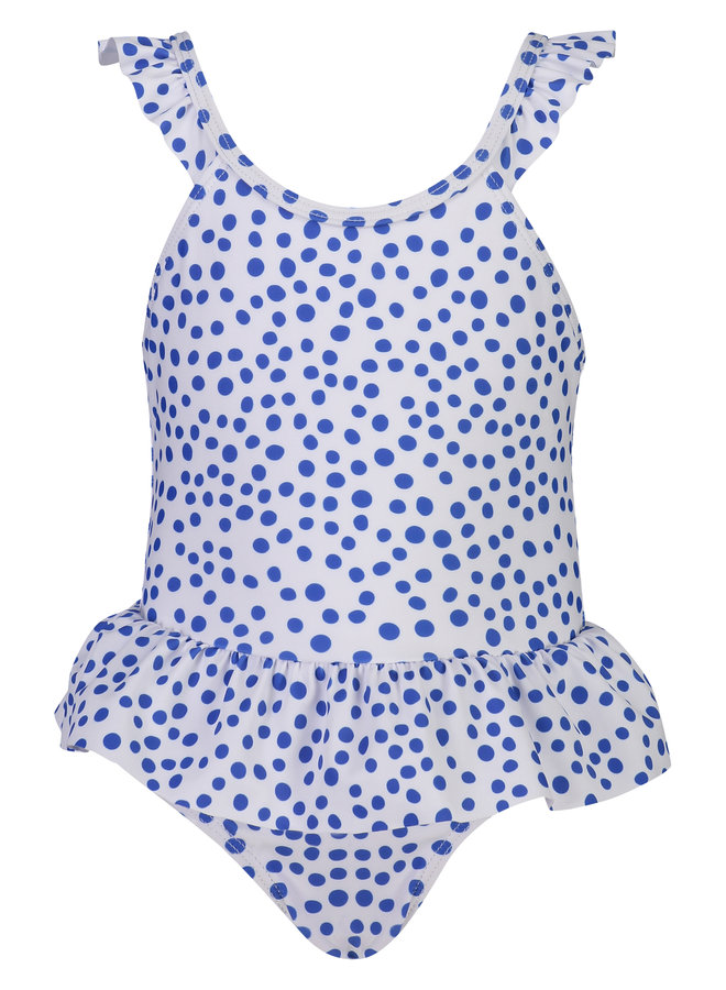CHEETAH SPOT RUFFLE WING SWIMSUIT