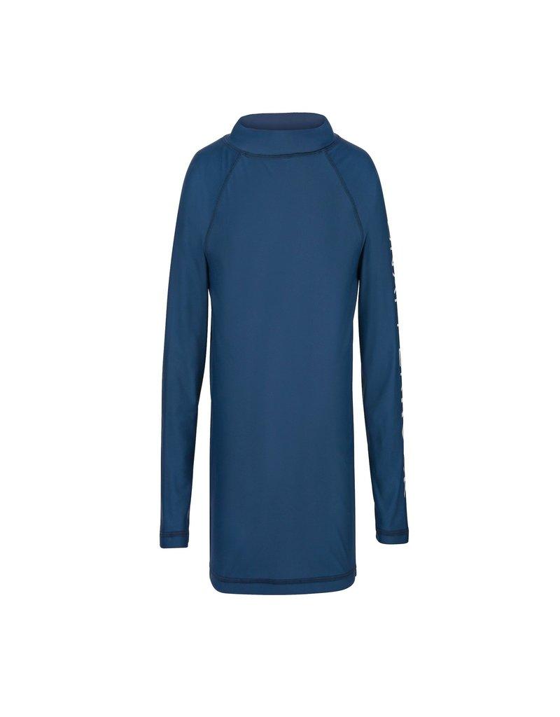 DENIM BLUE LS RASH TOP