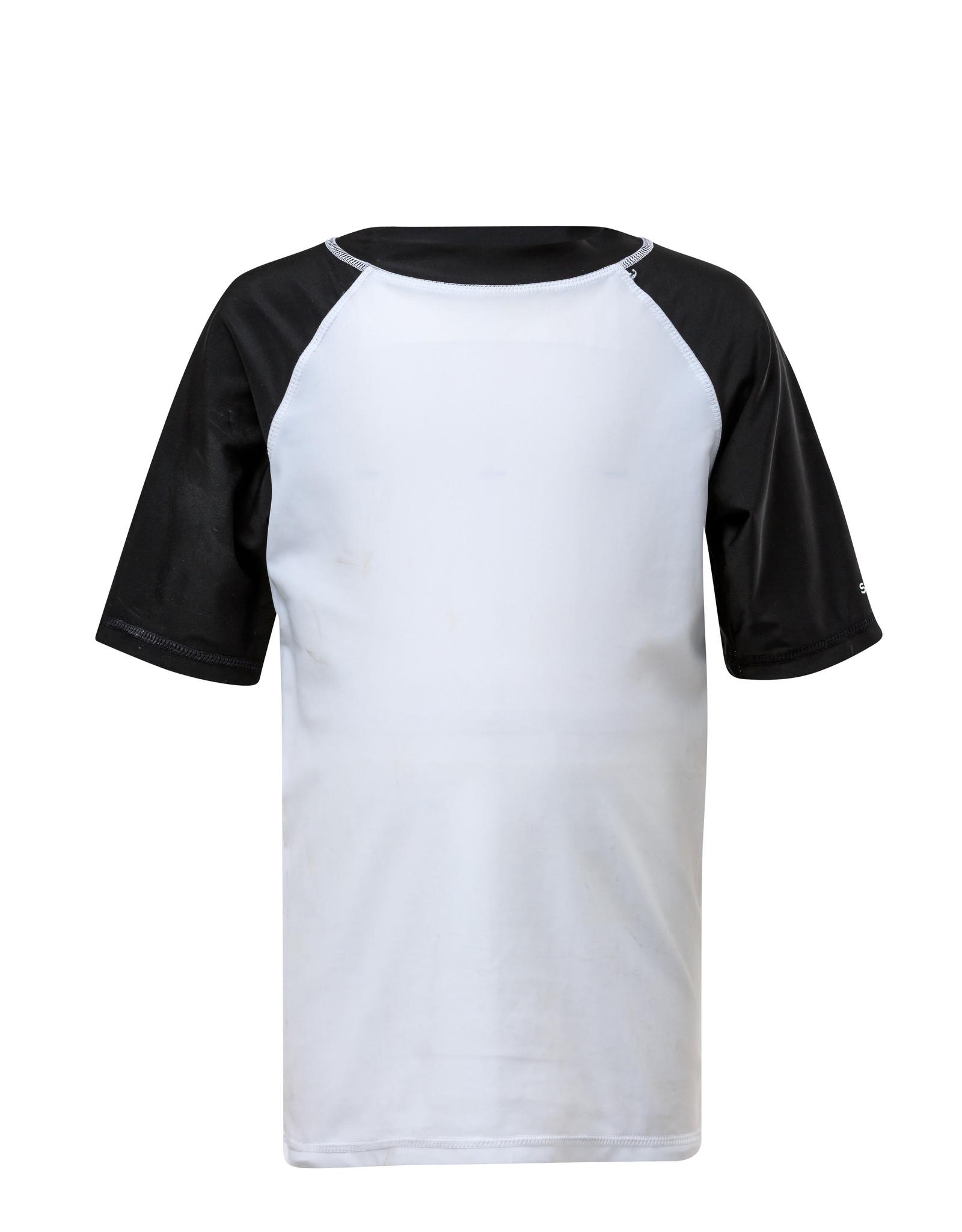 WHITE/BLACK SHORT SLEEVE RASH TOP