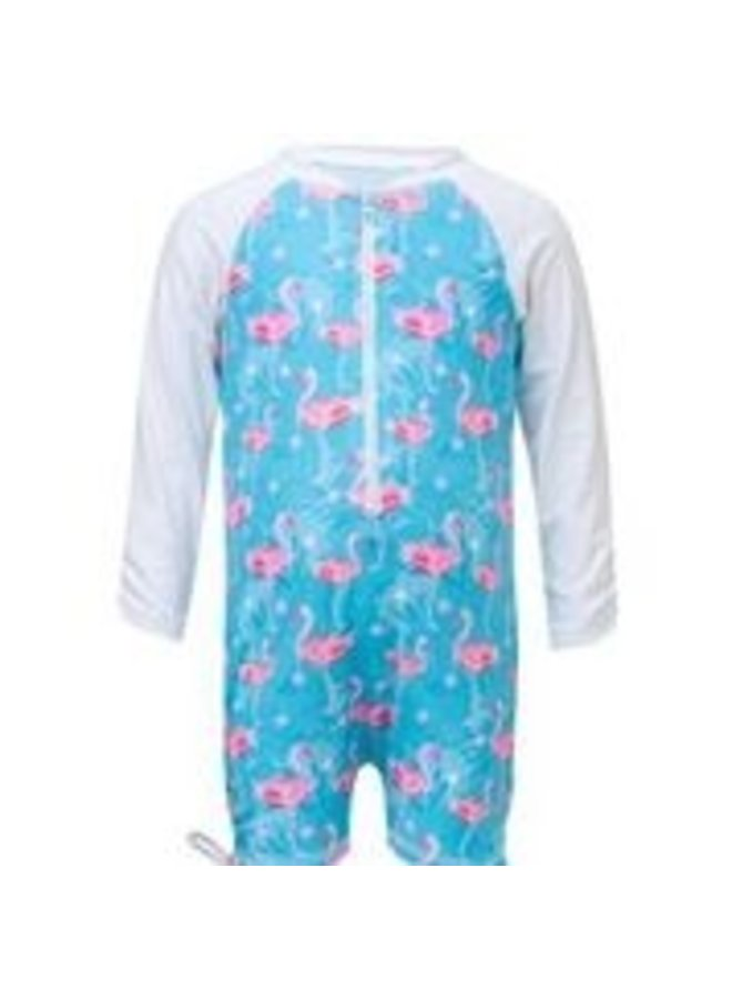 LONG SLEEVE FLAMINGO SUNSUIT
