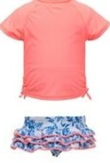 COTTAGE FLORAL RUFFLE SWIMSET
