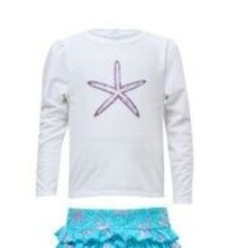 STARFISH LONG SLEEVE RUFFLE SET