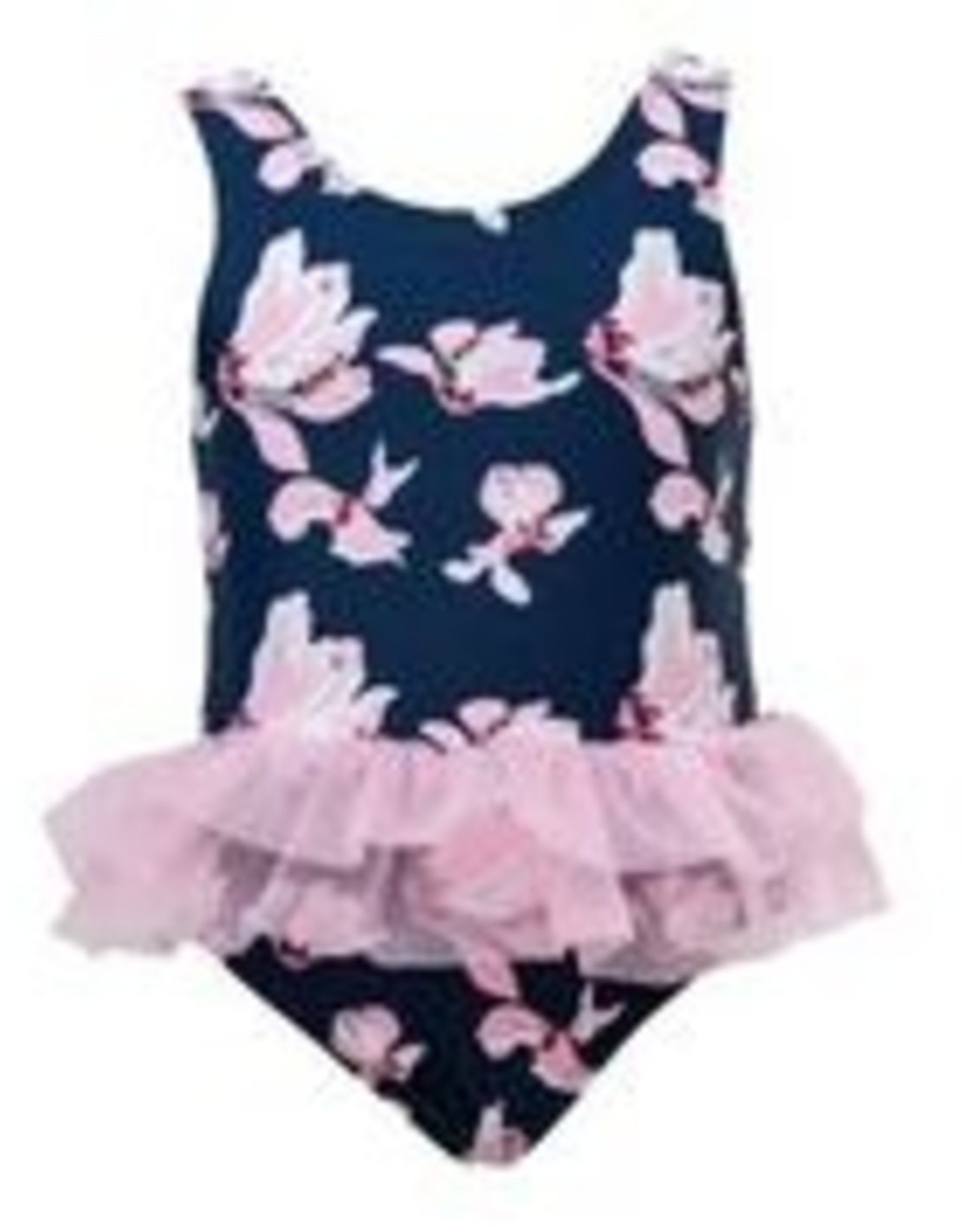 NAVY ORCHID SKIRTED SWIMSUIT