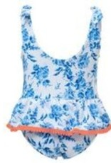 Skirted Swimsuit - Neon Floral