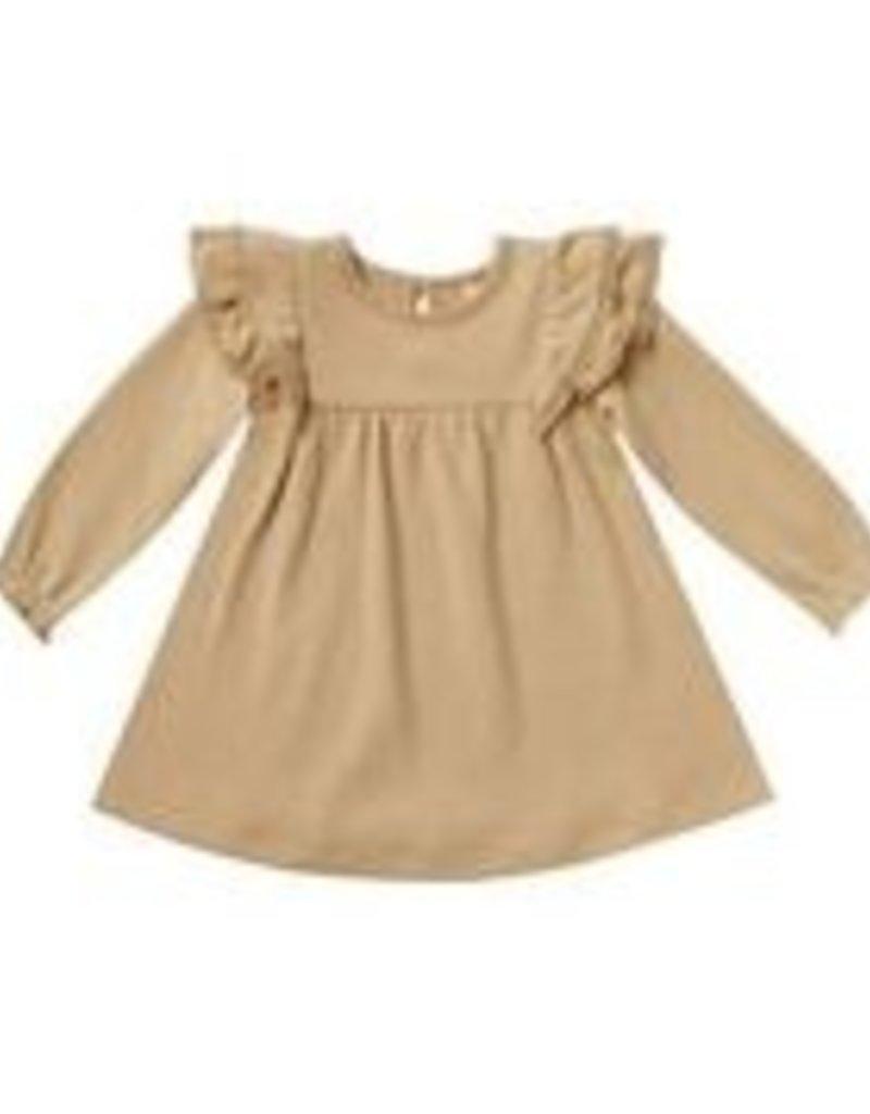 Longsleeve Flutter Dress - honey