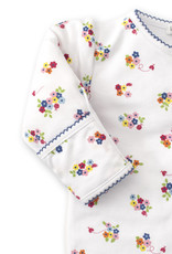 PRINTED SNAP FOOTIE - BLUE BLOSSOMS