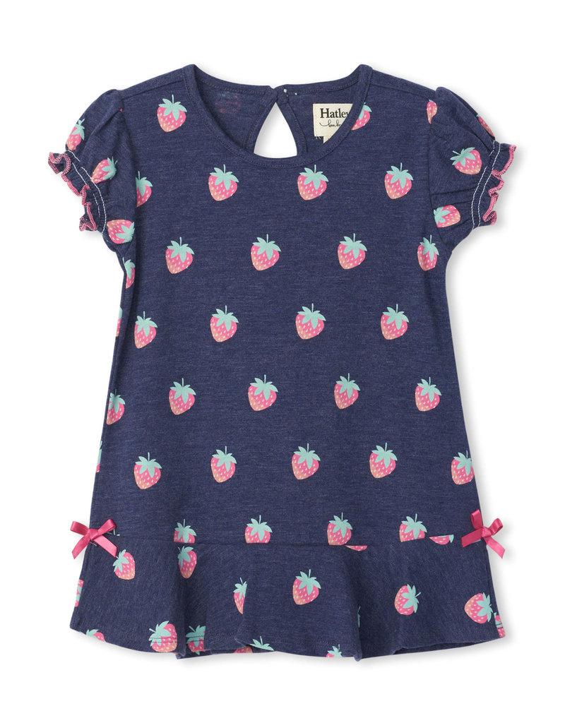 STRAWBERRIES BABY FLOUNCE HEM DRESS