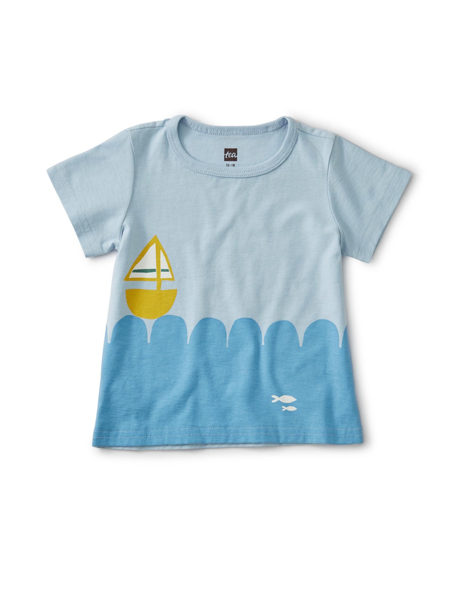 SET SAIL BABY TEE - CASHMERE BLUE