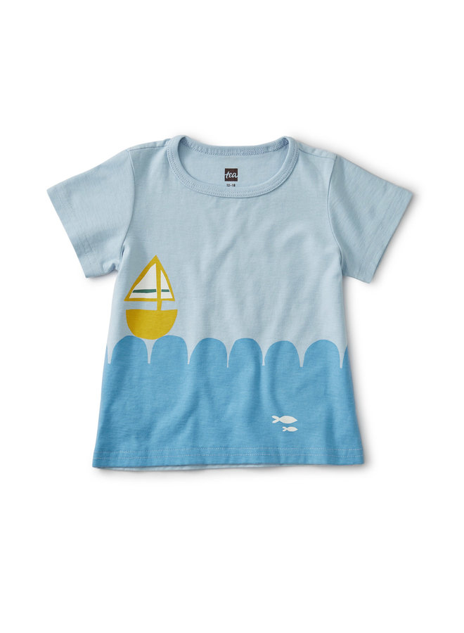 SET SAIL BABY TEE - CASHMERE BLUE