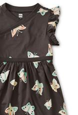 WRAP NECK DRESS - BUTTERFLY PEPPER