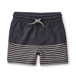 KNIT BEACH BABY SHORTS - INDIGO