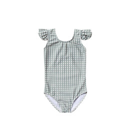 Rylee + Cru GINGHAM FRILL ONEPIECE