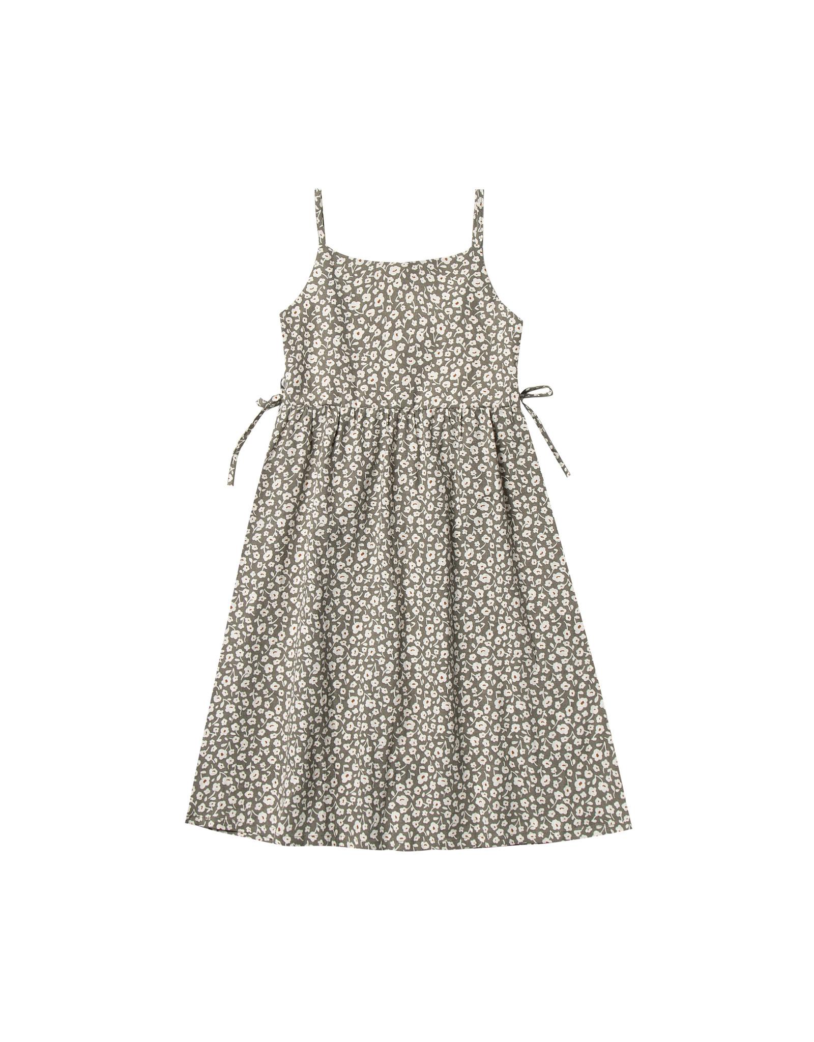FLORA LACY DRESS - OLIVE