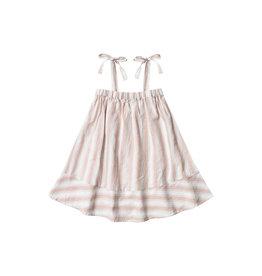 SHOULDER TIE DRESS - Petal Stripe