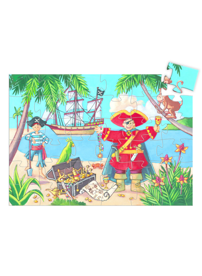 Silhouette Puzzles The Pirate