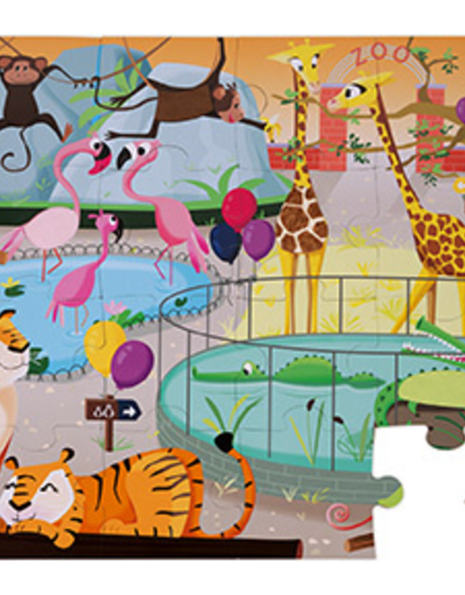 "TACTILE PUZZLE ""A DAY AT THE ZOO"""