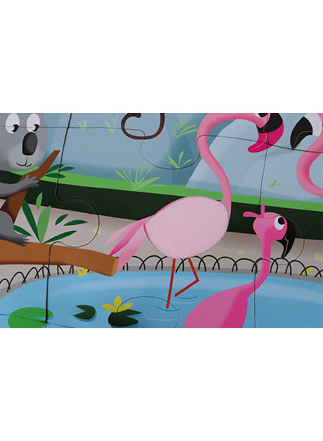 """TACTILE PUZZLE """"A DAY AT THE ZOO"""""""