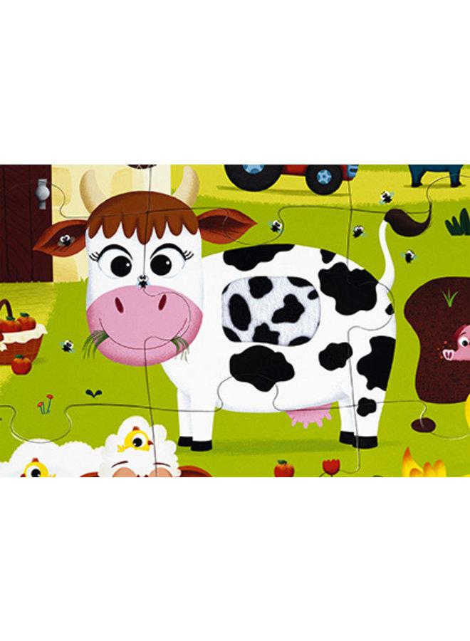 """TACTILE PUZZLE """"FARM ANIMALS"""" - 20 PCS"""