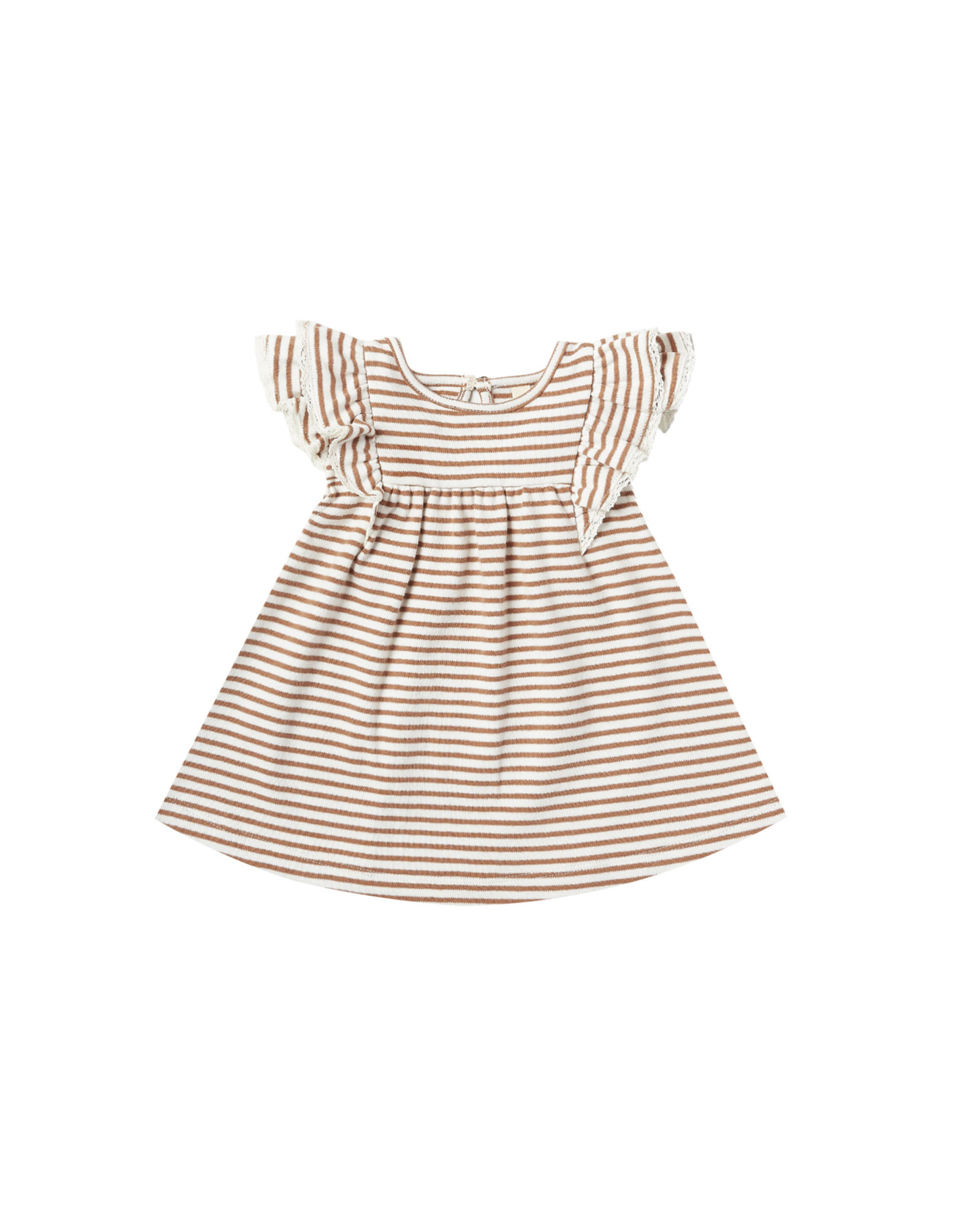 Flutter Dress - rust stripe
