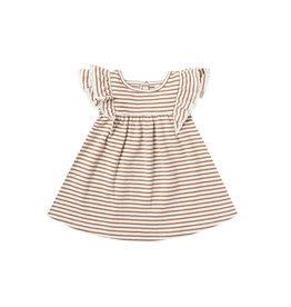Flutter Dress - rust stripe