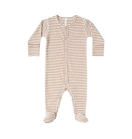 Full Snap Footie - rust stripe