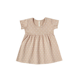 Short Sleeve Baby Dress - petal