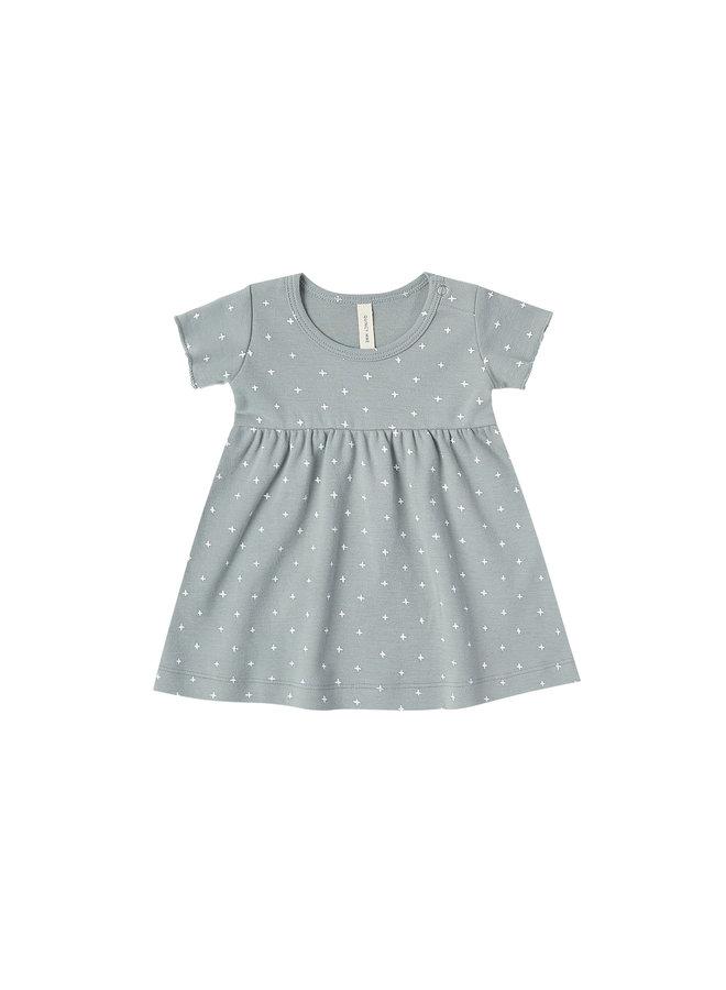Short Sleeve Baby Dress - ocean