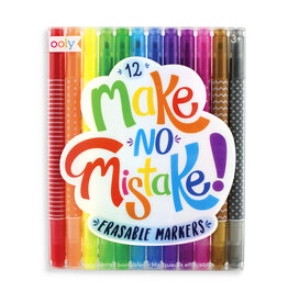 OOLY MAKE NO MISTAKE! ERASABLE MARKERS (SET OF 12)