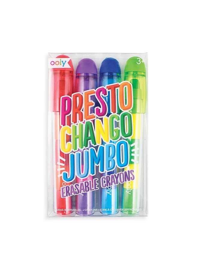 Presto Chango Jumbo Erasable Crayons (set of 4)