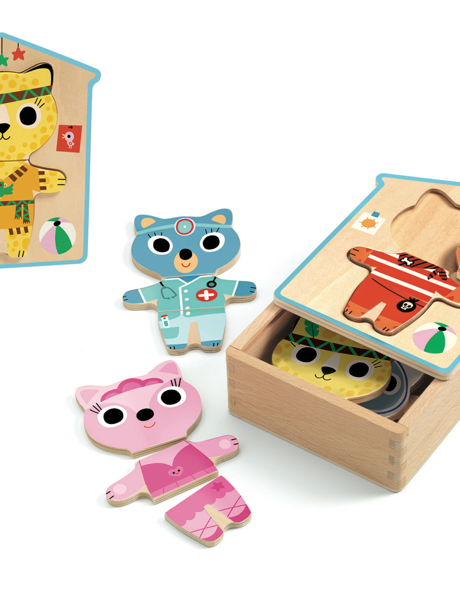 Wooden Puzzles Dressup Mix