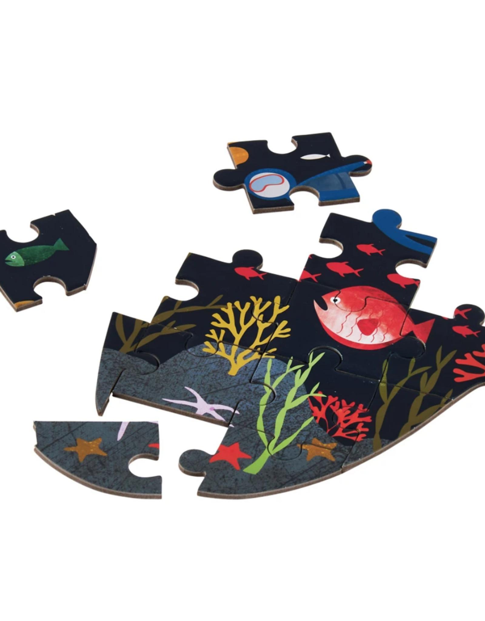 Deep Sea 80pc Jigsaw Puzzle in Shaped Box