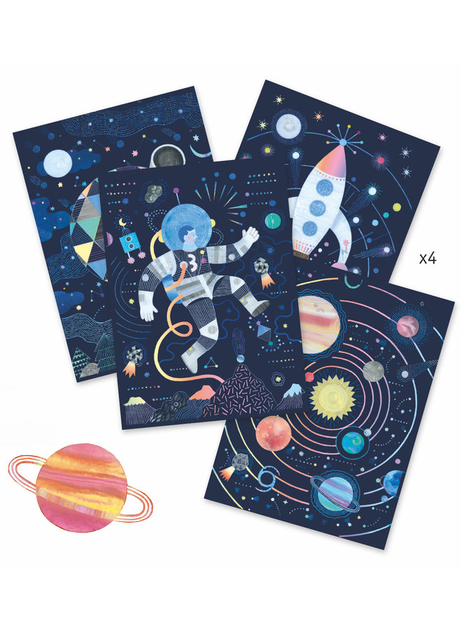 Petit Gifts - Scratch Boards - Cosmic Mission
