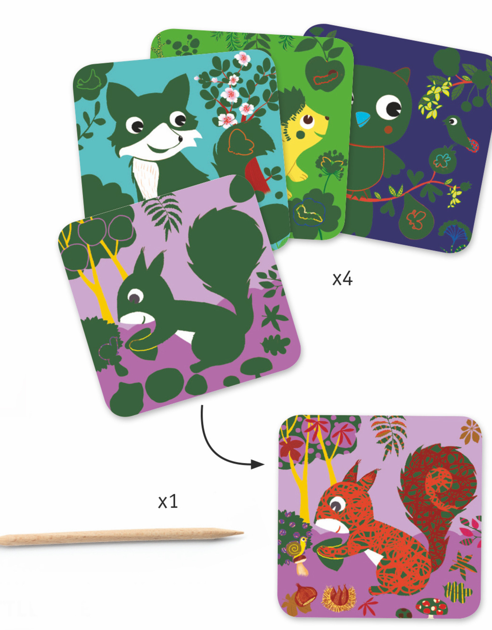 Petit Gifts - Scratch Boards - Country Creatures