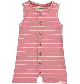 Red stripe jersey playsuit