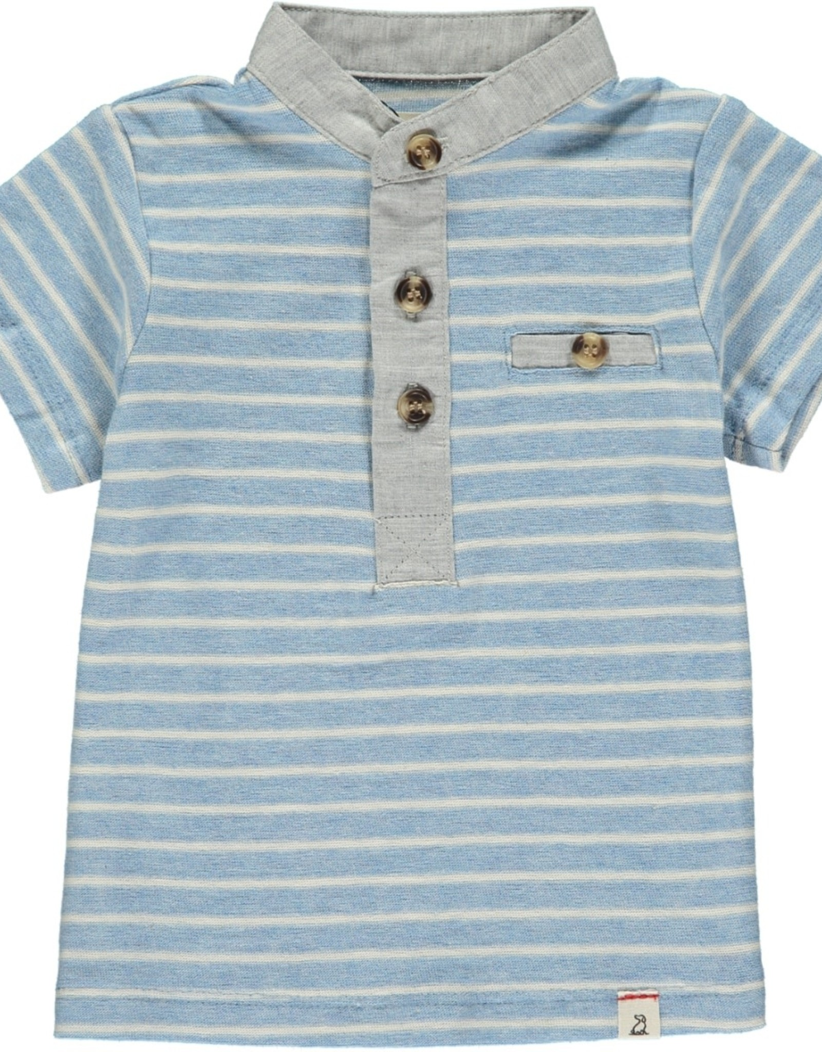 Blue/white stripe Henley