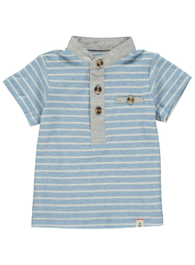 Blue/white stripe Henley