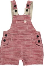 Red gauze woven dungarees