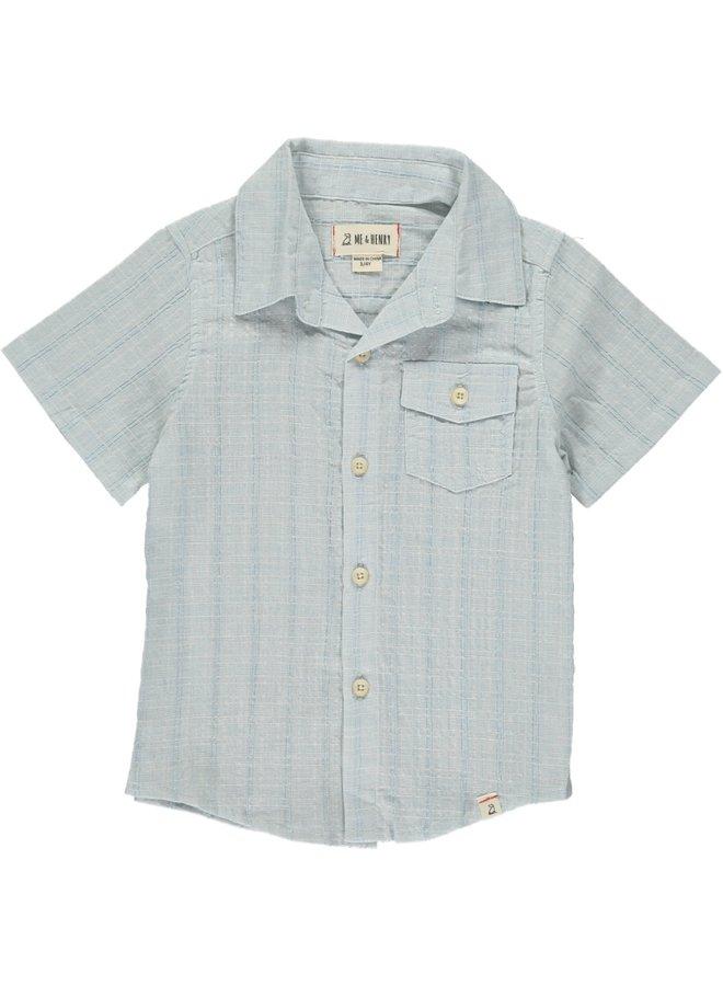 Pale blue woven s/s shirt