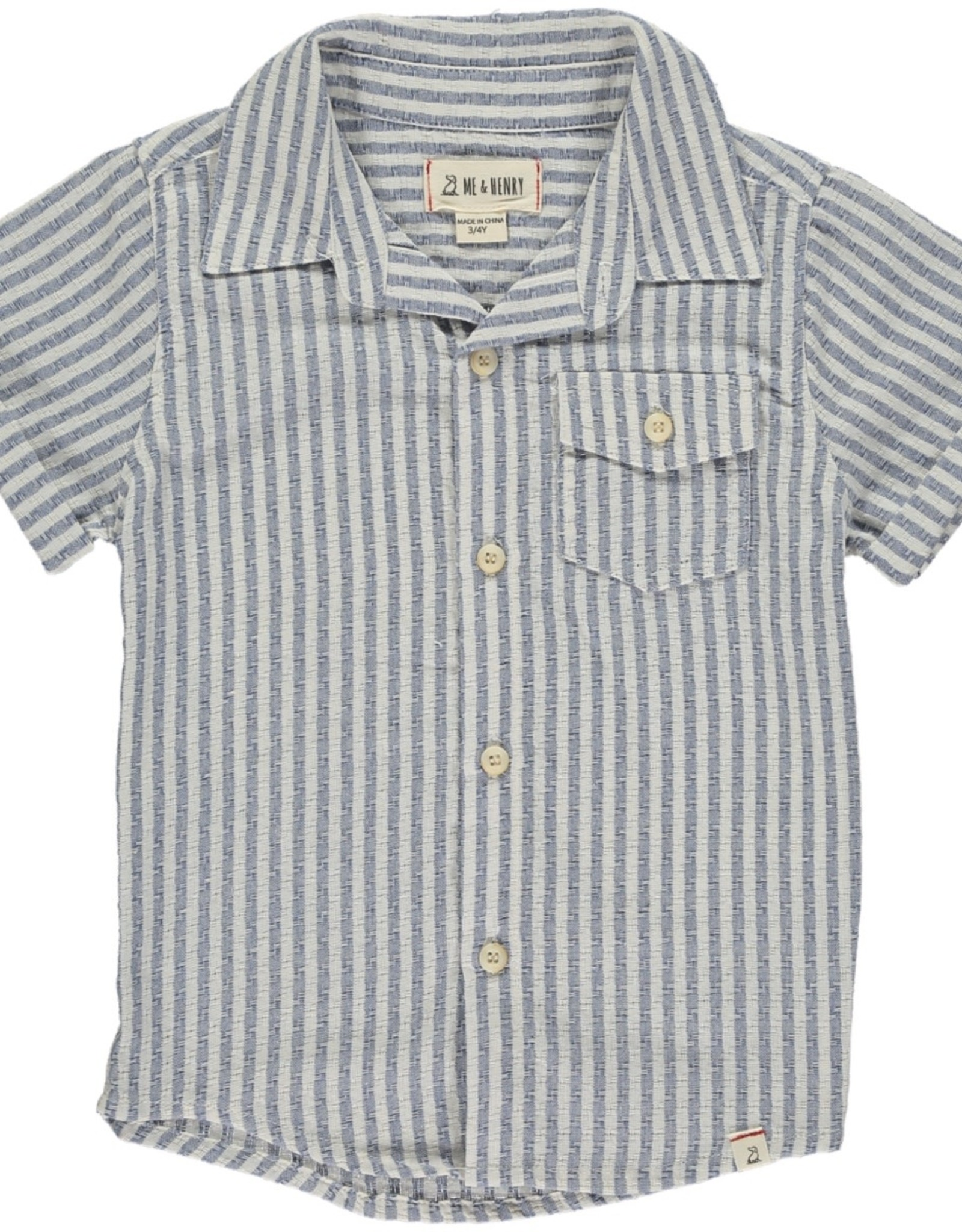 Blue/white stripe s/s shirt