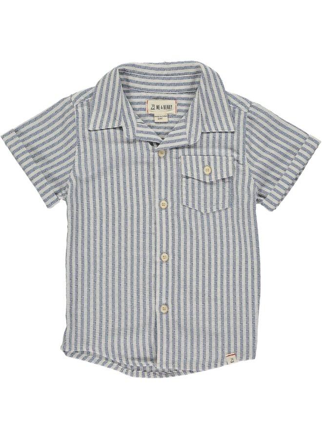 Blue/white stripe s/s shirt