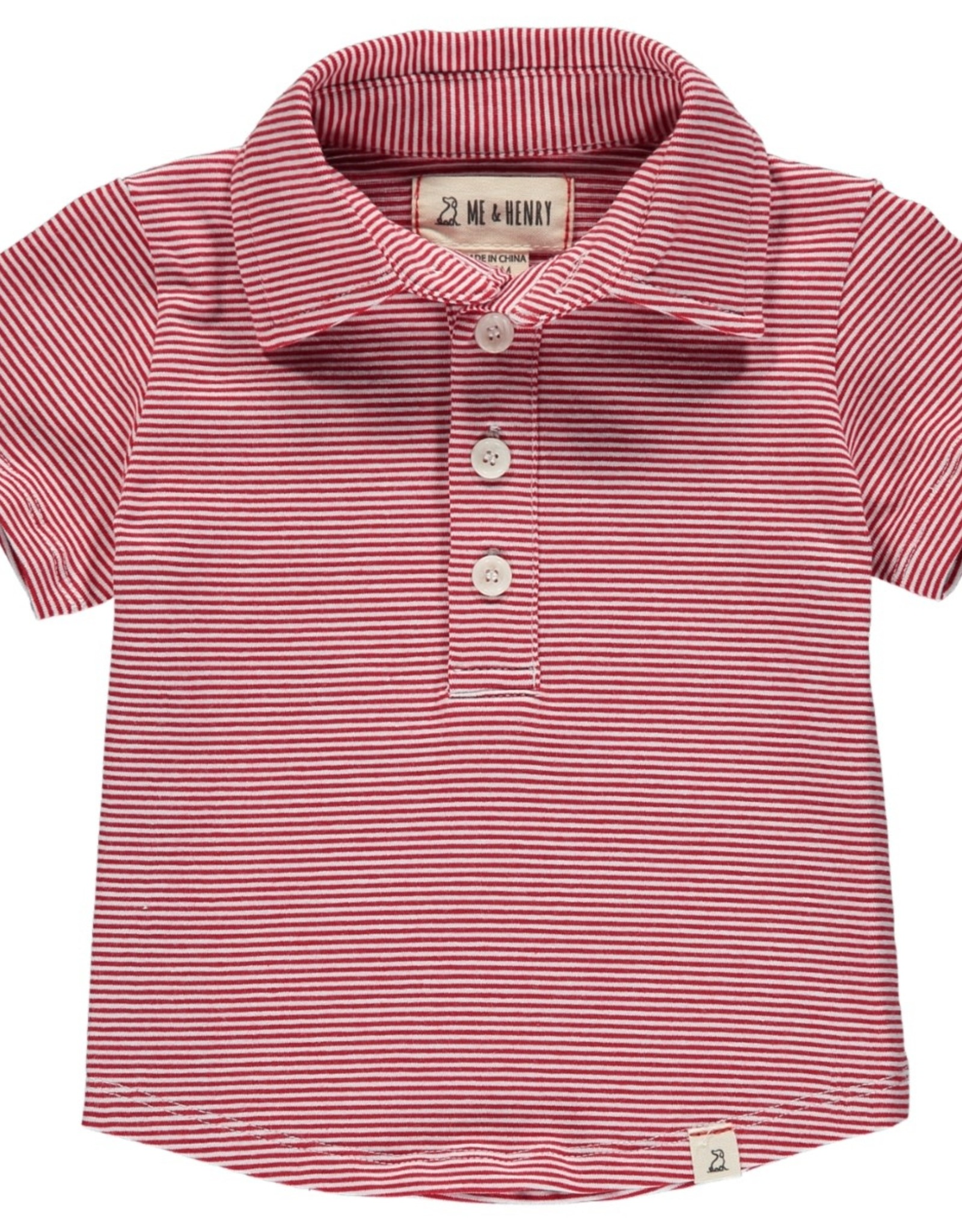 Red/white stripe polo