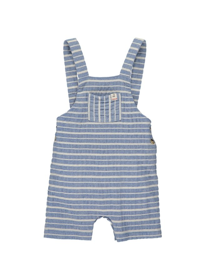 Blue/white woven dungarees