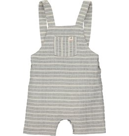 Grey/white woven dungarees