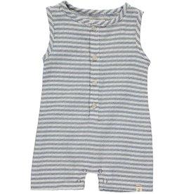 Blue/white stripe woven playsuit