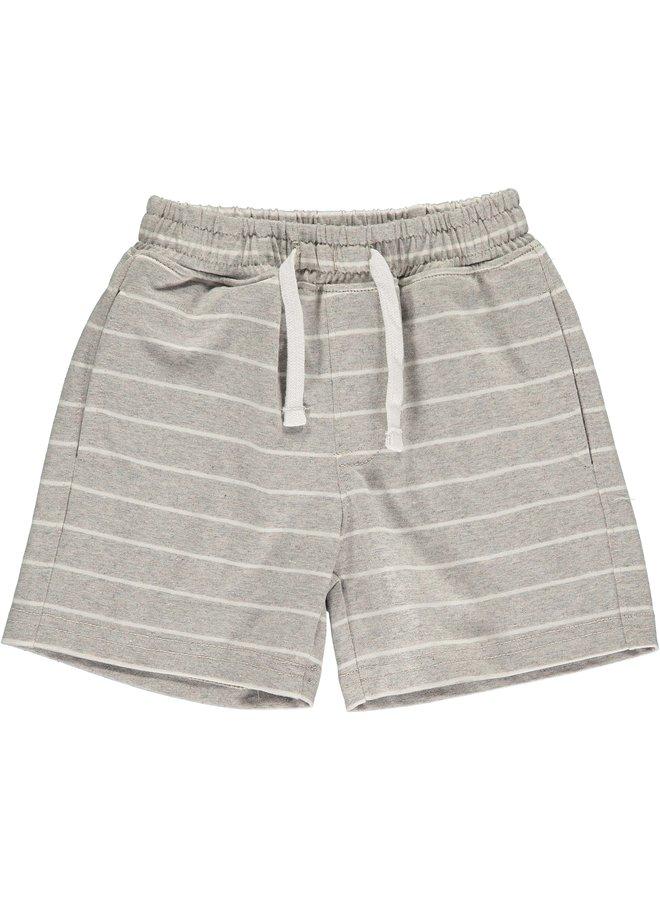 Grey/white stripe jersey shorts